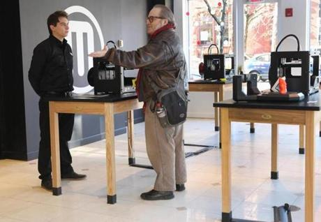 The Newbury Street store is only MakerBot's second. The first one opened in Brooklyn.